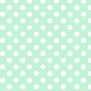 polka dots 2 ice mint green