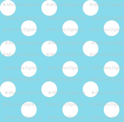 polka dots 2 sky blue