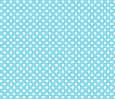 polka dots 2 sky blue fabric by misstiina on Spoonflower - custom fabric