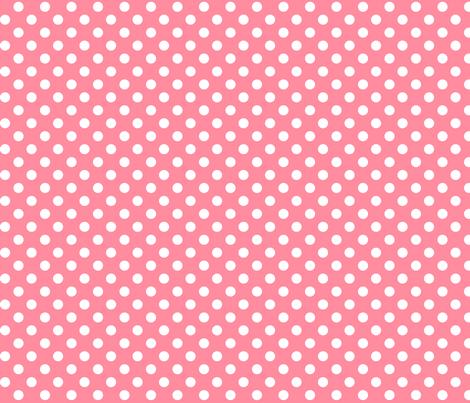 polka dots 2 pretty pink fabric by misstiina on Spoonflower - custom fabric