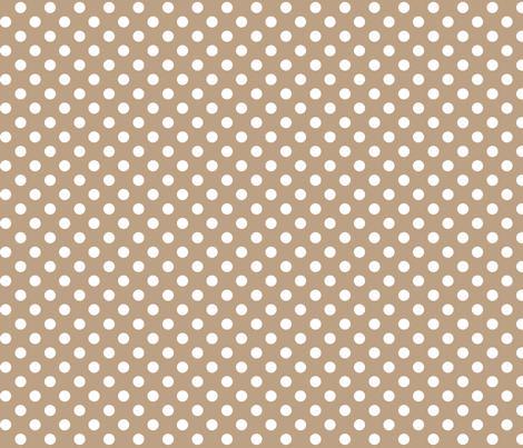 polka dots 2 tan fabric by misstiina on Spoonflower - custom fabric