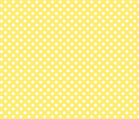 polka dots 2 lemon yellow fabric by misstiina on Spoonflower - custom fabric