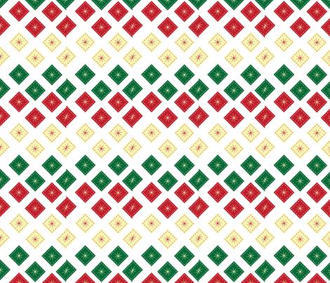 Christmas-stars fabric by hmooreart on Spoonflower - custom fabric