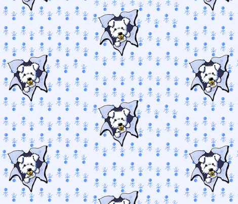 Westie Baby Boy fabric by kiniart on Spoonflower - custom fabric