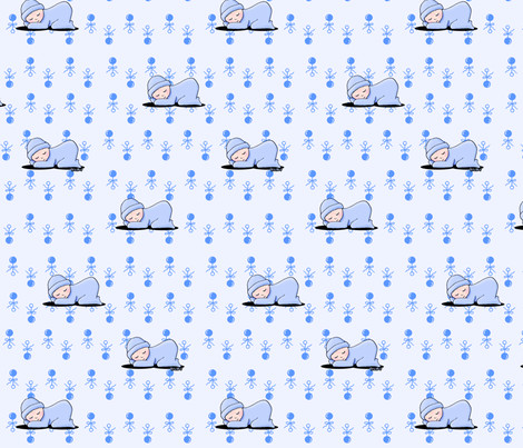 Baby Boy Blue fabric by kiniart on Spoonflower - custom fabric