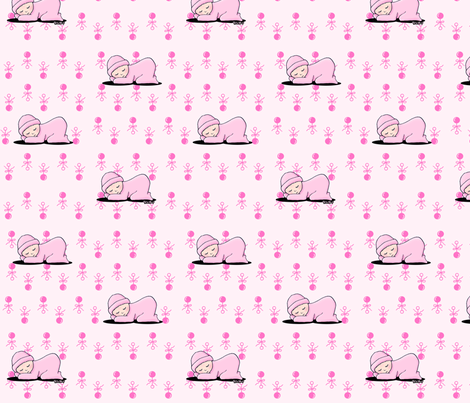 Baby Girl Pink fabric by kiniart on Spoonflower - custom fabric