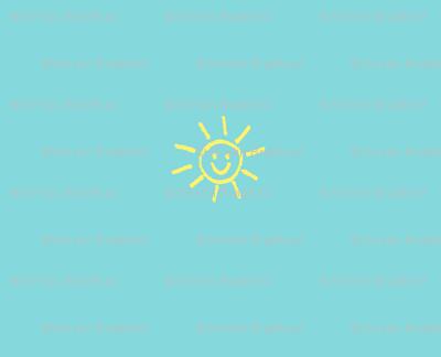 Bits of Sunshine in Aqua and Yellow