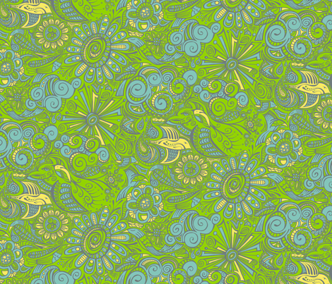 Mother Migration fabric by ghennah on Spoonflower - custom fabric