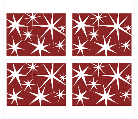 Holiday Stars Placemats pattern fabric by alicia_vance on Spoonflower - custom fabric