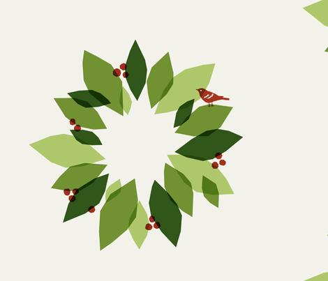 Christmas Wreath fabric by alicia_vance on Spoonflower - custom fabric