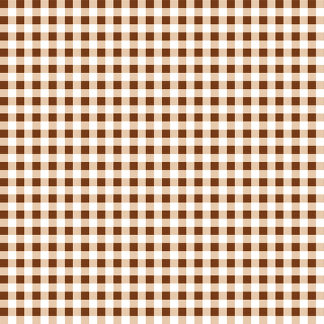 Sepia Gingham fabric by peacoquettedesigns on Spoonflower - custom fabric