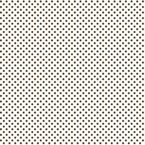 mini polka dots brown