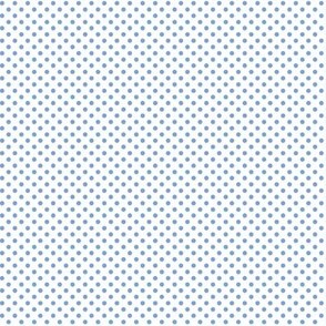 mini polka dots cornflower blue
