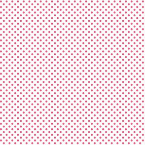 mini polka dots hot pink
