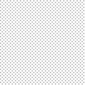 mini polka dots grey