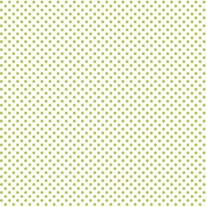 mini polka dots lime green