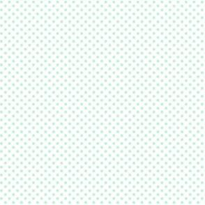 mini polka dots ice mint green