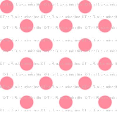 mini polka dots pretty pink