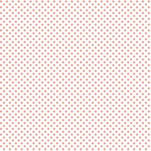 mini polka dots peach