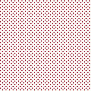 mini polka dots red