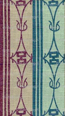Diamond_Stripe - Dual stripe, plum/teal/aqua
