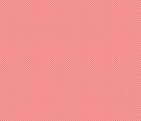 mini polka dots 2 coral fabric by misstiina on Spoonflower - custom fabric