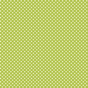 mini polka dots 2 lime green