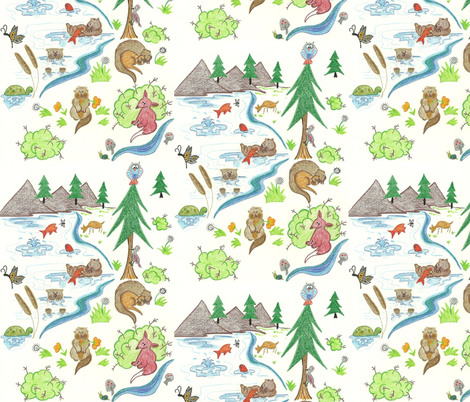Otterly Fun fabric by kbexquisites on Spoonflower - custom fabric
