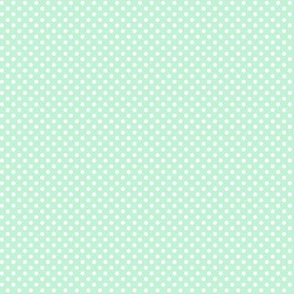 mini polka dots 2 ice mint green