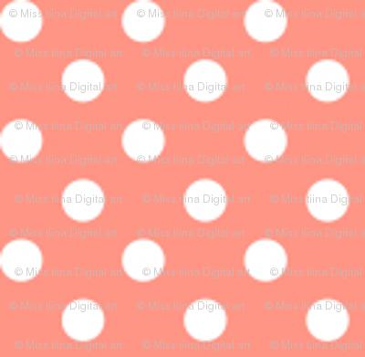 mini polka dots 2 peach
