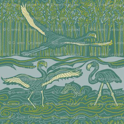 Flamingos and Flight - Large