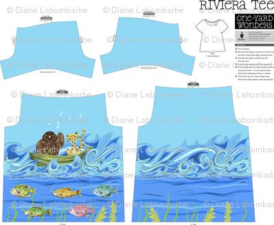 Colourful Under The Sea Design - Riviera Tee