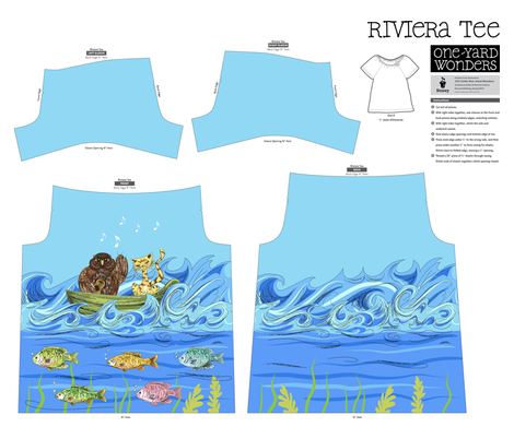 Colourful Under The Sea Design - Riviera Tee  fabric by diane555 on Spoonflower - custom fabric
