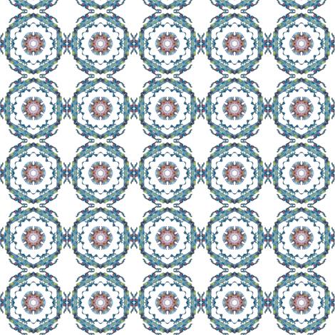 Blue  Medallion var01 fabric by whimsikate on Spoonflower - custom fabric