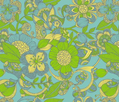 Between Flowers fabric by valentinaharper on Spoonflower - custom fabric