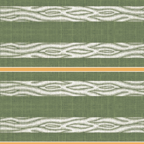 Lawn Chair - green & white with pumpkin stripe fabric by materialsgirl on Spoonflower - custom fabric