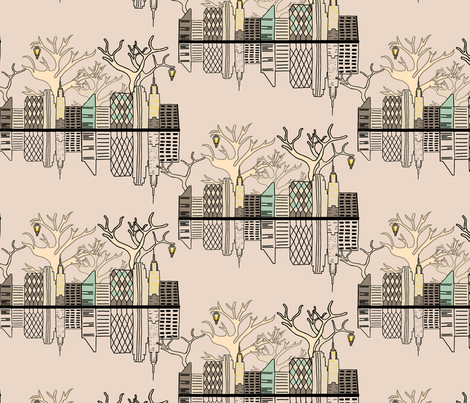 New York Toile fabric by lydia_may on Spoonflower - custom fabric