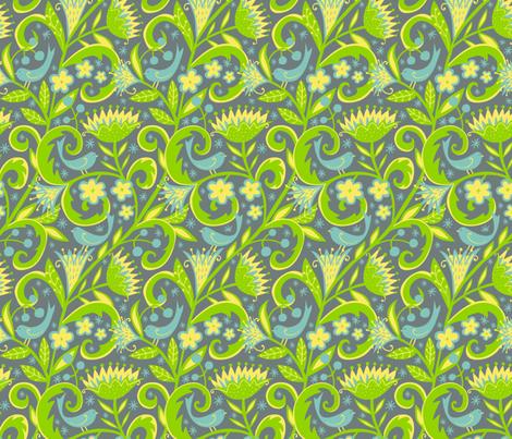 Garden Glory fabric by emilydyerdesign on Spoonflower - custom fabric