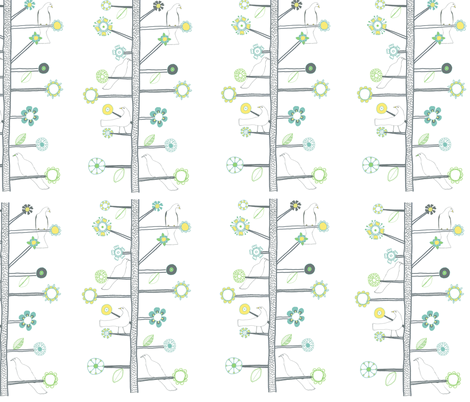 claire_brown_birds_in_tree_copy fabric by claire_brown on Spoonflower - custom fabric