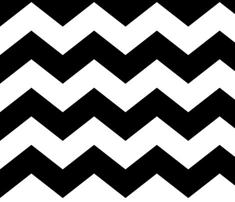 chevron lg black fabric by misstiina on Spoonflower - custom fabric