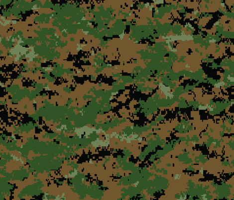 Marine MARPAT Digital Woodland Camo fabric by ricraynor on Spoonflower - custom fabric