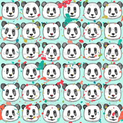 splatter pop panda cookies mint mini
