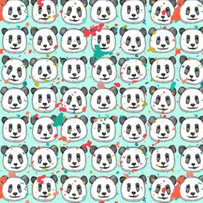 splatter pop panda cookies mint mini