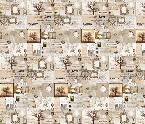 Family fabric by madefor__ on Spoonflower - custom fabric