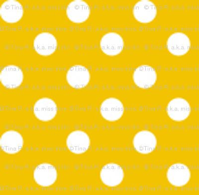 mini polka dots 2 mustard yellow