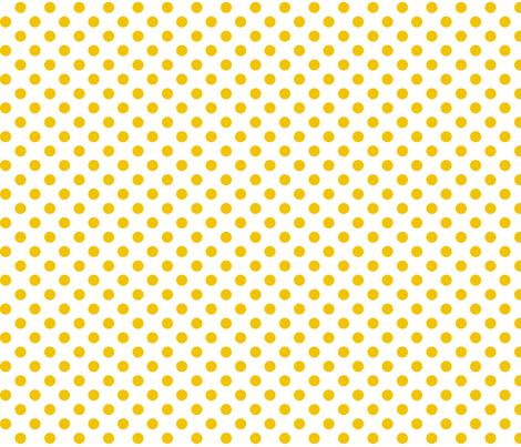 polka dots mustard yellow fabric by misstiina on Spoonflower - custom fabric