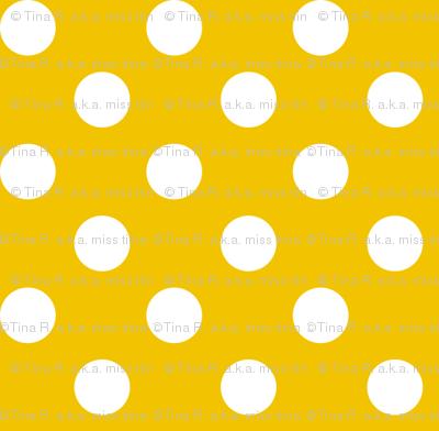polka dots 2 mustard yellow