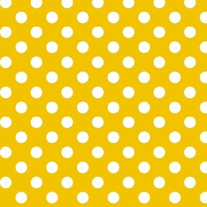 polka dots 2 mustard yellow