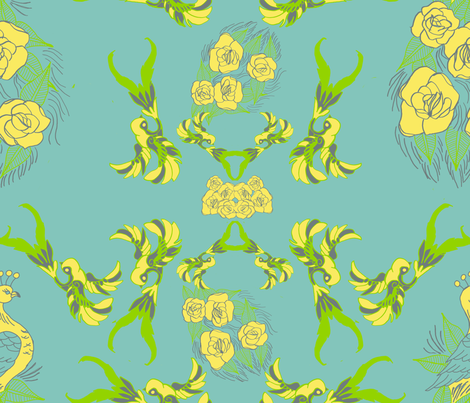 Birds of a Feather fabric by emimarie on Spoonflower - custom fabric