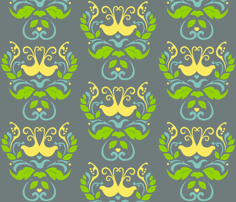 Birds  fabric by jenniferfranklin on Spoonflower - custom fabric
